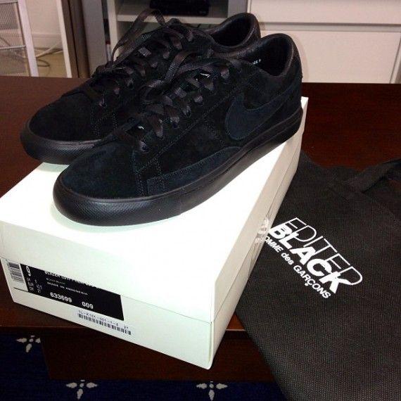 Comme des Garcons BLACK x Nike Blazer Low
