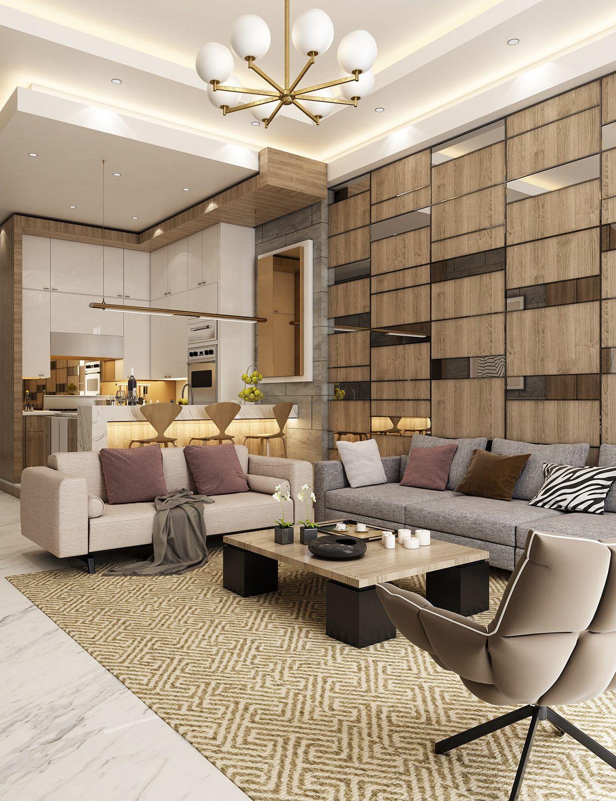 Contemporary Living Room Interior Design: Contemporary Apartment Design On Behance