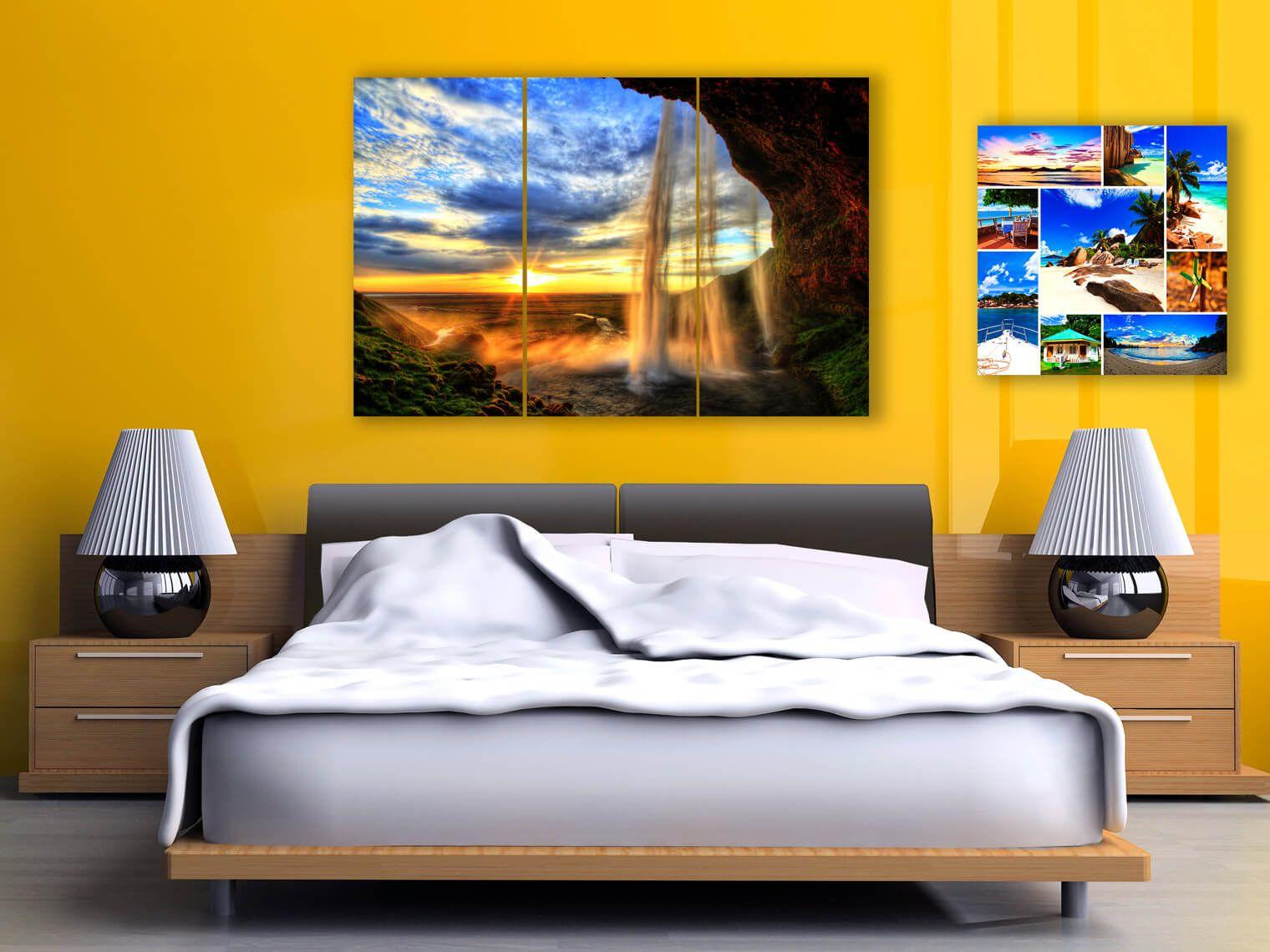 Photo gifts, Bedroom Decoration, Metal Prints Ideas, Split Metal ...