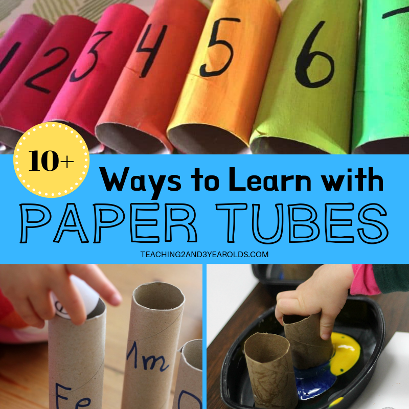 10 Ways To Learn With Paper Tubes Toilet Paper Roll Toilet Paper Roll Crafts Paper Towel Roll Crafts