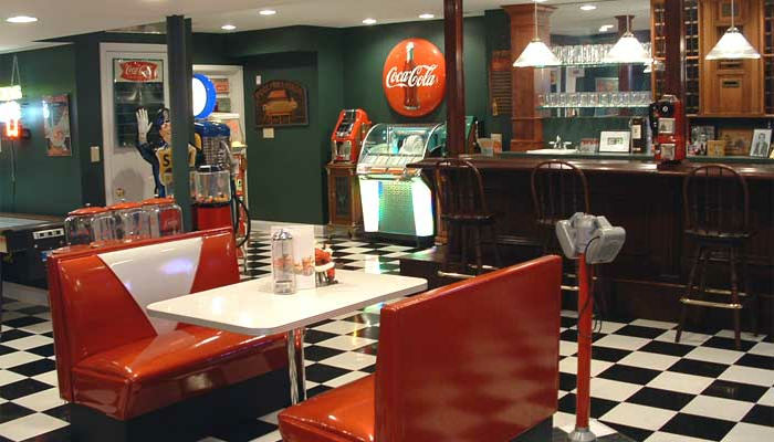 game room diner booth - Game Rooms