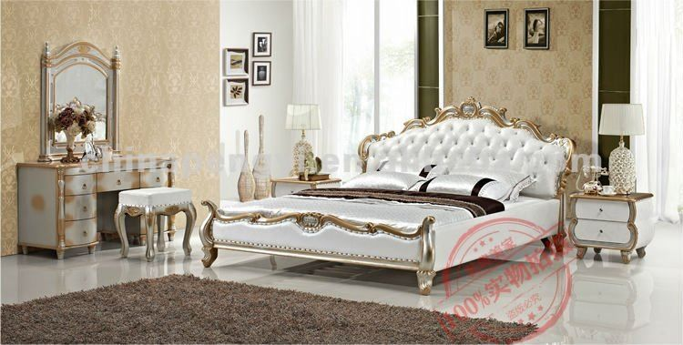 Factory Outlet King Size French Bed Ru 0105 Contemporary Bed Furniture