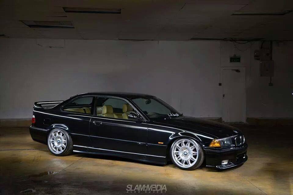 Black Bmw E36 Coupe On Oem Bmw Styling 39 Wheels Bmw Bmw E36 Bmw Classic