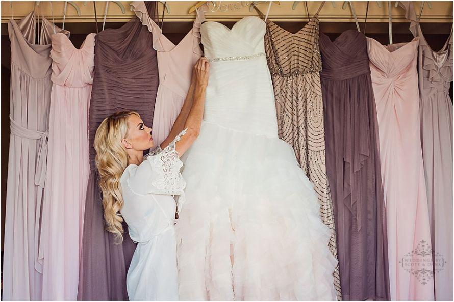 Neutral mix and match bridesmaids. Blush bridesmaid. Spring ...