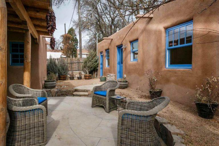 You ll Love the Light Bright Interior of this Santa Fe Pueblo Adobe Home