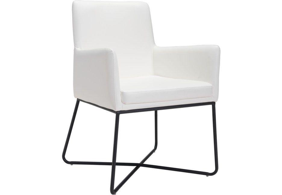 Putman White Arm Chair Chair Armchair Furniture