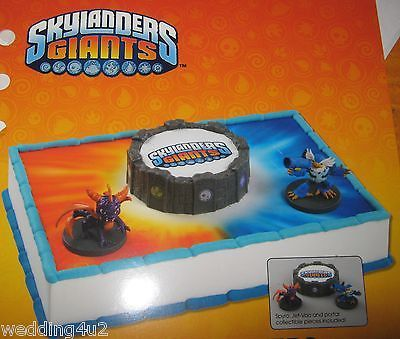 SKYLANDERS CAKE DECORATING KIT Decoration TOPPER Birthday SPYRO JET