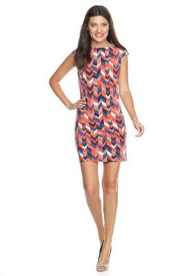 TRINA Trina Turk  Felana Print Jersey Dress