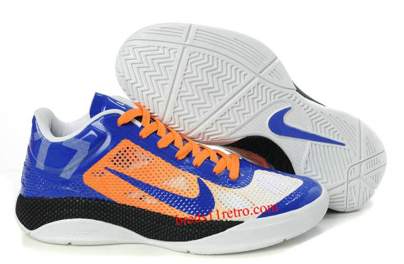 Nike Zoom Hyperfuse Low X Men White Blue Orange Red Basketball Shoes