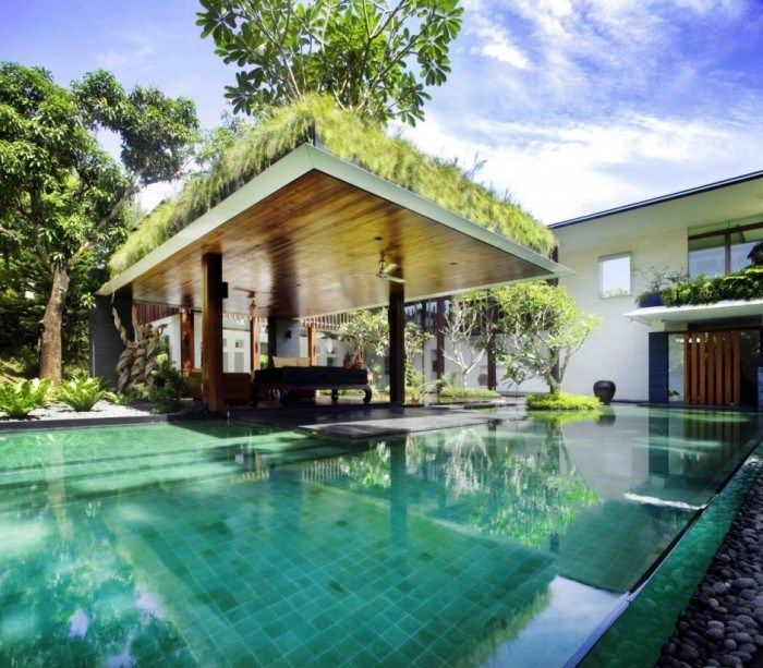 Greenery Throughout The Space In Singapore Bungalow Sun House Inspiring Outdoor Spaces Architecture