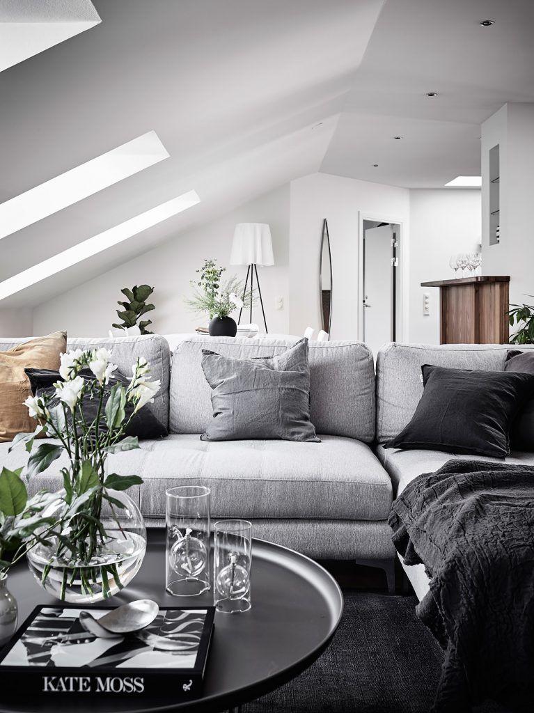 Prachtig Een Scandinavisch Interieur Dat Grijs Met Hout Combineert Scandinavisch Interieur Grijs Interieur Woonideeen