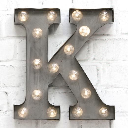 Carnival Letter Lights Silver: K Amazing Ideas