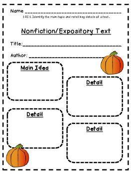 informational writing graphic organizer 3rd grade pdf