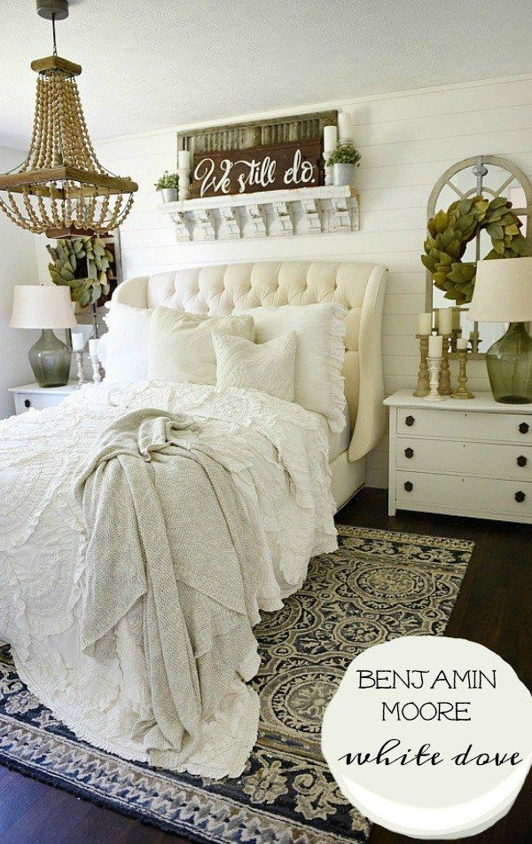 The Best Rustic Farmhouse White Paint Farmhouse bedroom