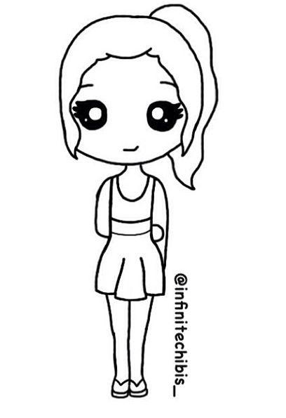 Simple Cartoon Girl : simple, cartoon, Chibi, Drawings,, Cartoon, Drawing,, Drawings