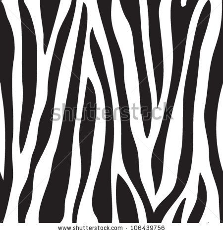 Animal print, zebra texture seamless background black and white colors - stock vector