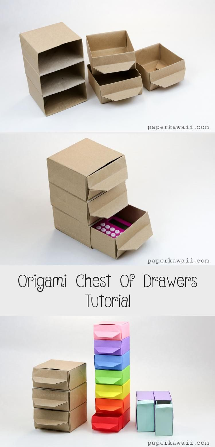 Photo of Origami Chest of Drawers Tutorial #origamiAnleitung #origamiDragon #origamiBird …