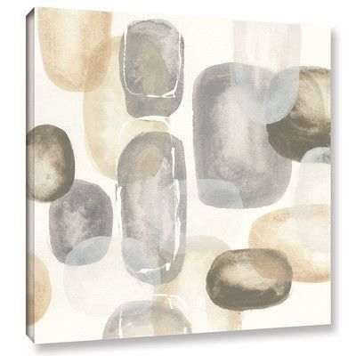 """Latitude Run 'Neutral Stones I' by Chris Paschke Painting Print on Wrapped Canvas Size: 14"""" H x 14"""" W x 2"""" D"""