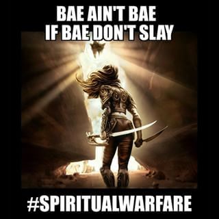 """Raw shot out to all the frontline prayer warrior women of God! """"For the"""