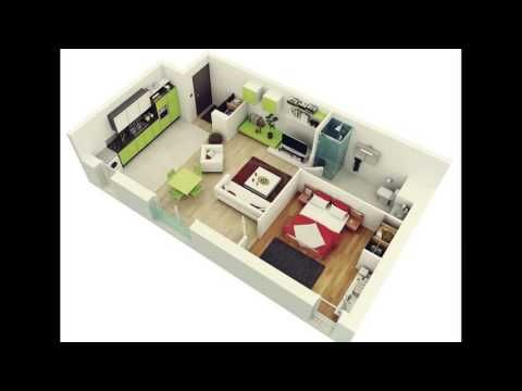 Interior Design Ideas For 1 Room Kitchen Flat In Mumbai Http Www Eightynine10studios Com Interio Bedroom Layout Design One Bedroom Apartment 3d House Plans