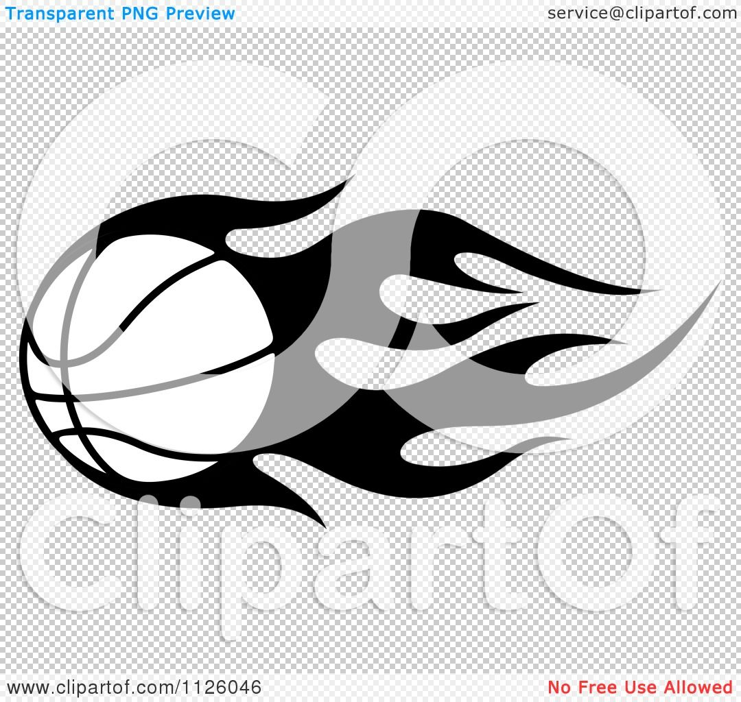 Flaming Basketball Silhouette Clipart Of A Black And White Tribal Flaming Basketball 4 Royalty Free Vector Illustration Vector Illustration Illustration