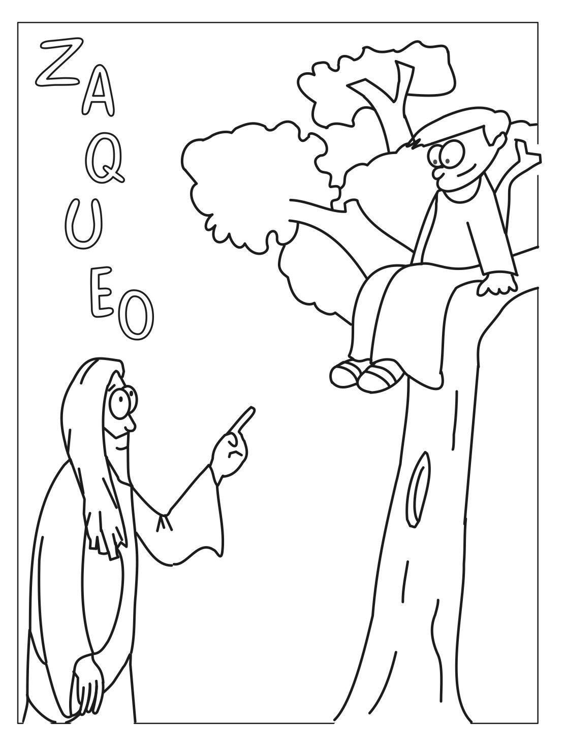 Dibujo para pintar sobre Zaqueo | dibujos biblicos | Pinterest ...