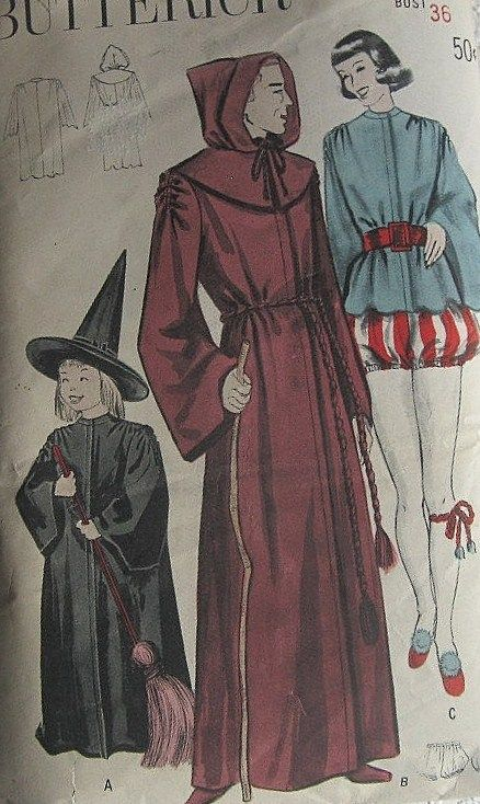 late 1940s or early 1950s Vintage Halloween Costume Patterns & late 1940s or early 1950s Vintage Halloween Costume Patterns ...