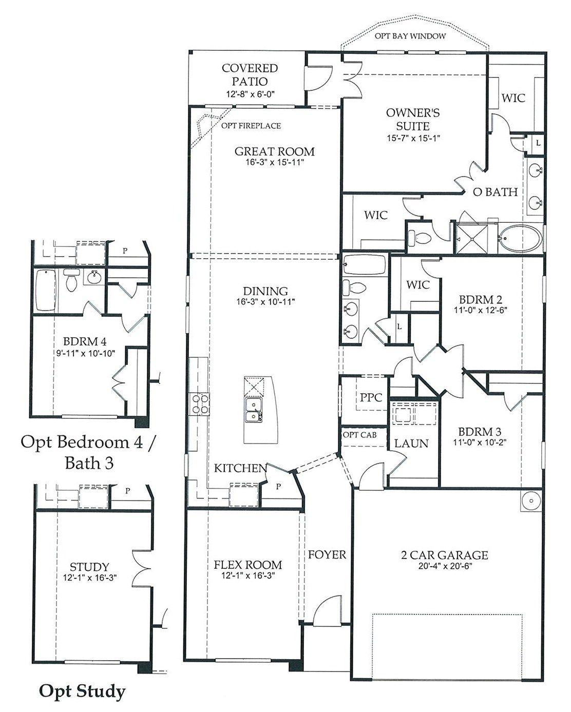 2200 sq ft newland communities flex room house floor