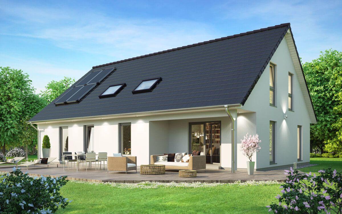 Einfamilienhaus Neubau klassisch mit Satteldach