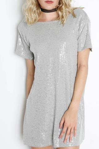 MOTEL Mausi S/S Sequin Dress
