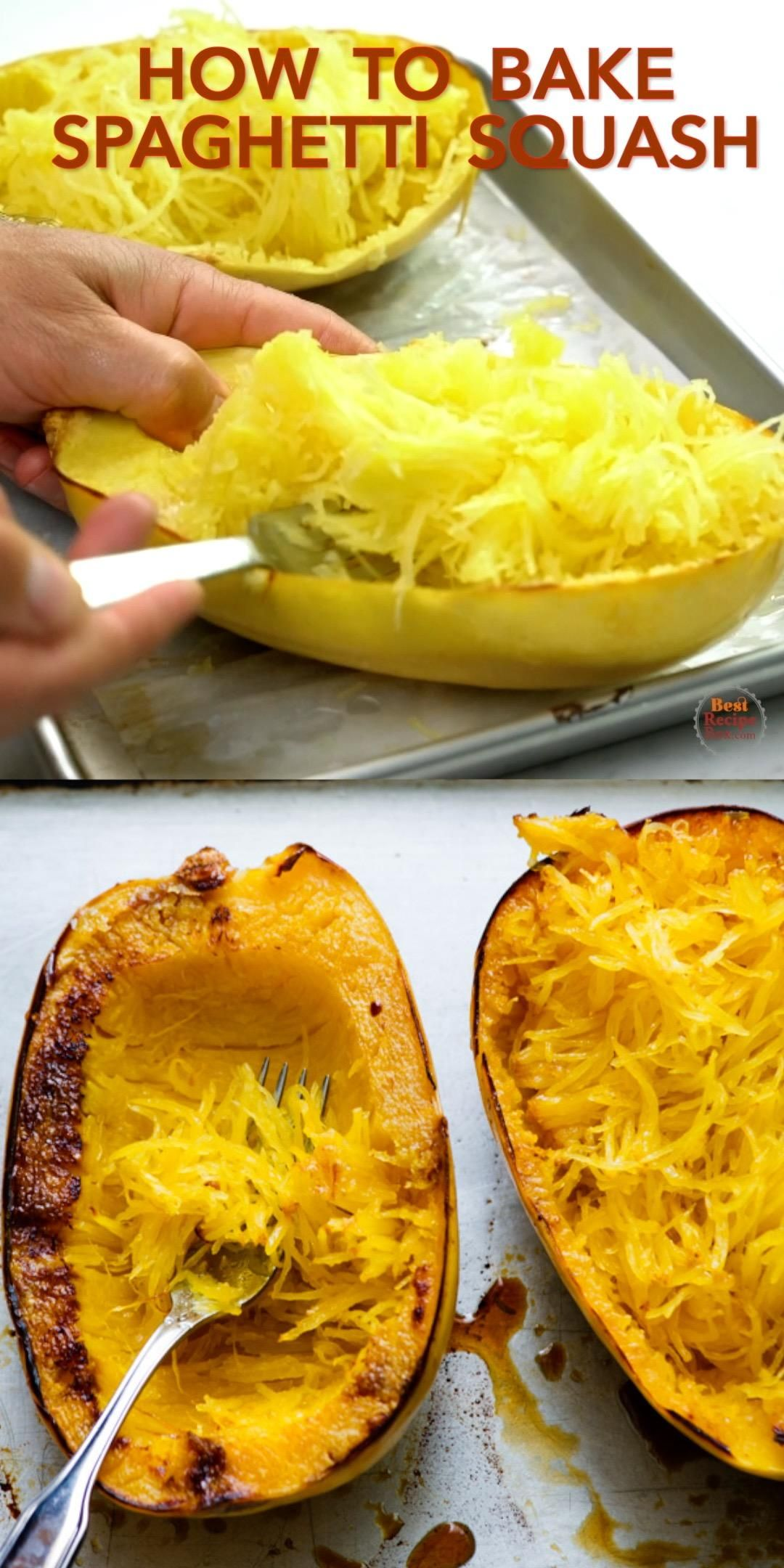 How to Roast or Bake Spaghetti Squash Recipe