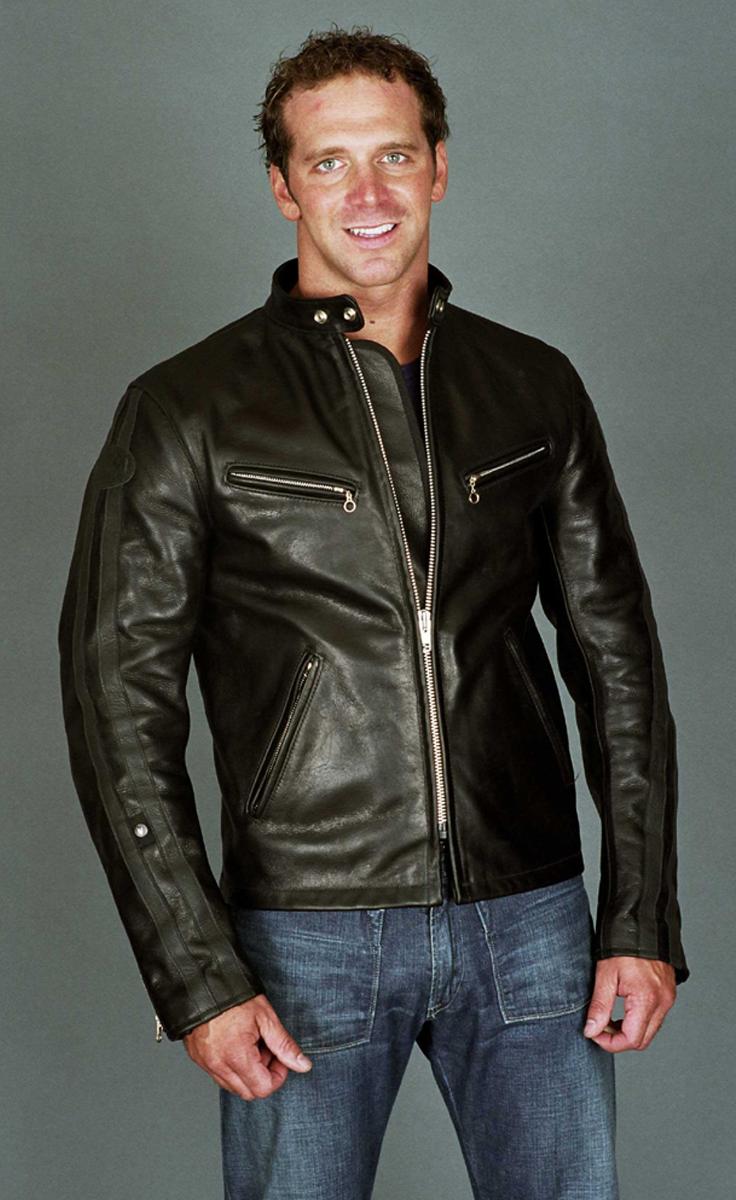 Model C2 Brando Style Biker Jacket Leather Jacket Men Jackets Bike Jacket