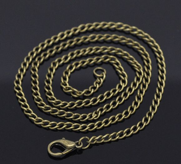 """Wholesale Lots Bronze Plated Lobster Clasp Link Chain Necklaces 20/"""""""