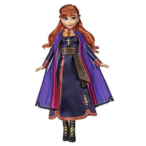 Disney Frozen Singing Anna Fashion Doll with Music Wearing A Purple Dress Inspired by 2, Toy for Kids 3 Years & Up - Brown/a