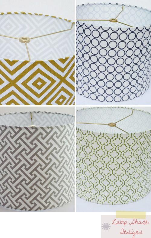 Love these lamp shade prints.  I just upgraded a few lampshades in our living room to some similar to these.