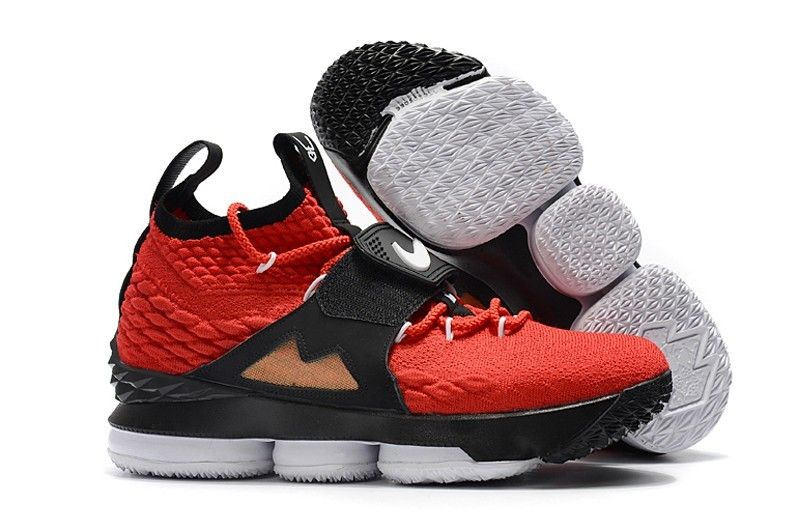 reputable site 0452f 994ab 2018 Alternate Diamond Turf Nike LeBron 15 Red Black Shoes On Sale