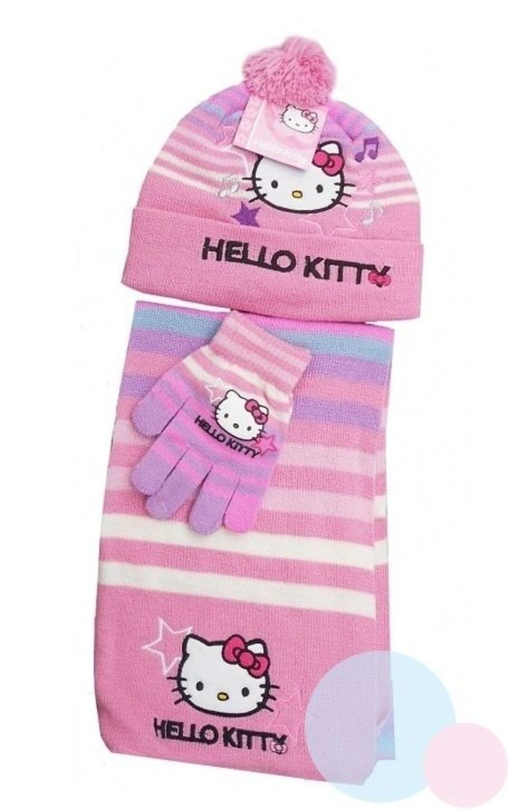 278a139ed48 Hello kitty Hat Scarf   Glove sets for girls HM4045 (54 CM