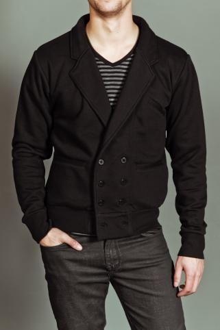 Explicit Button Up Fleece Jacket Black