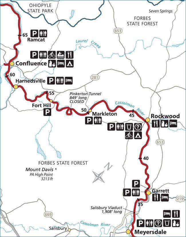 Great Allegheny Passage (GAP) Rail Trail Meyersdale - Rockwood