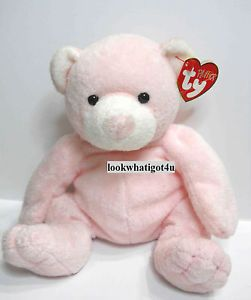 ty bears | Details about Ty Pluffies Pudder Pink Bear w/ tag