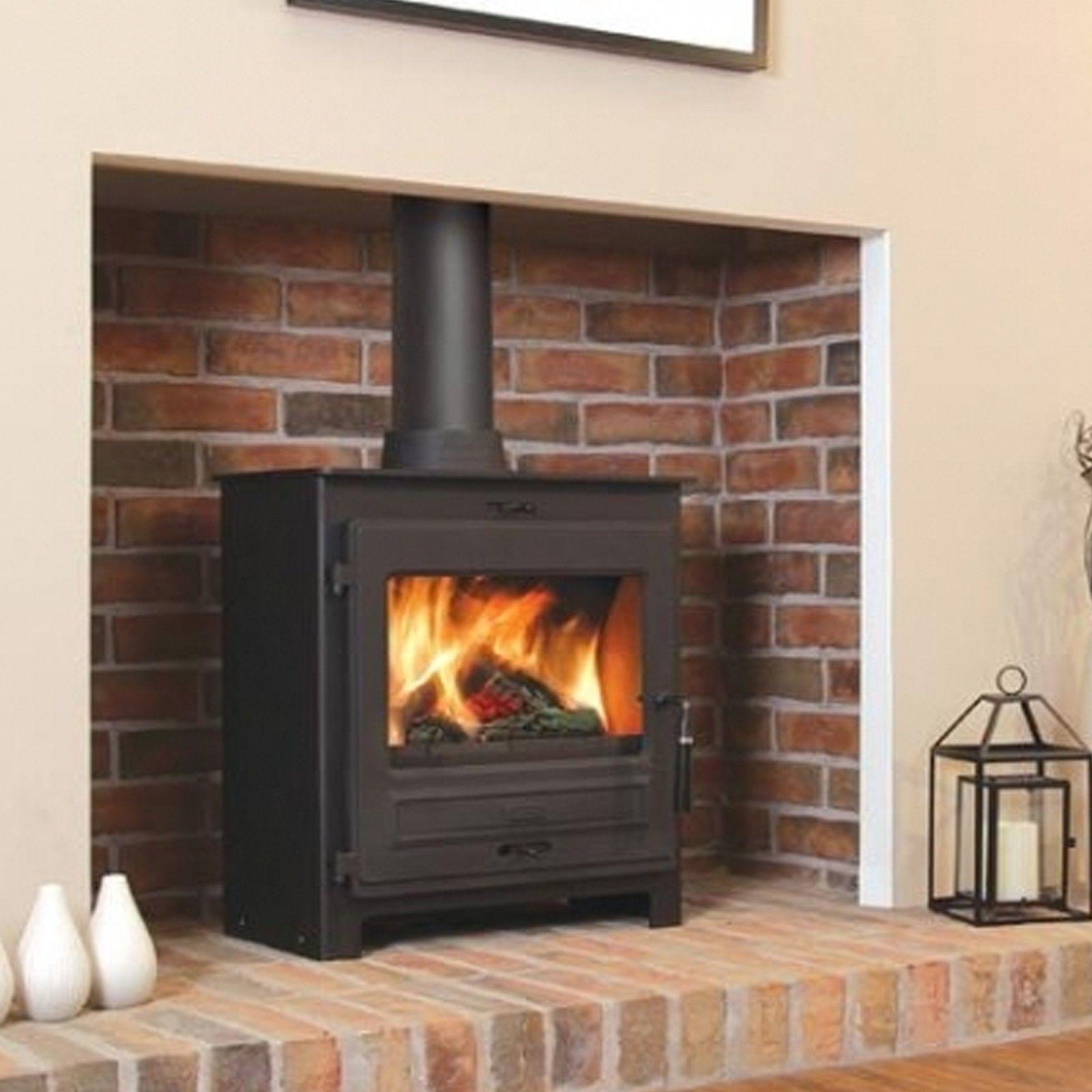 flavel no straight door multifuel stove living room
