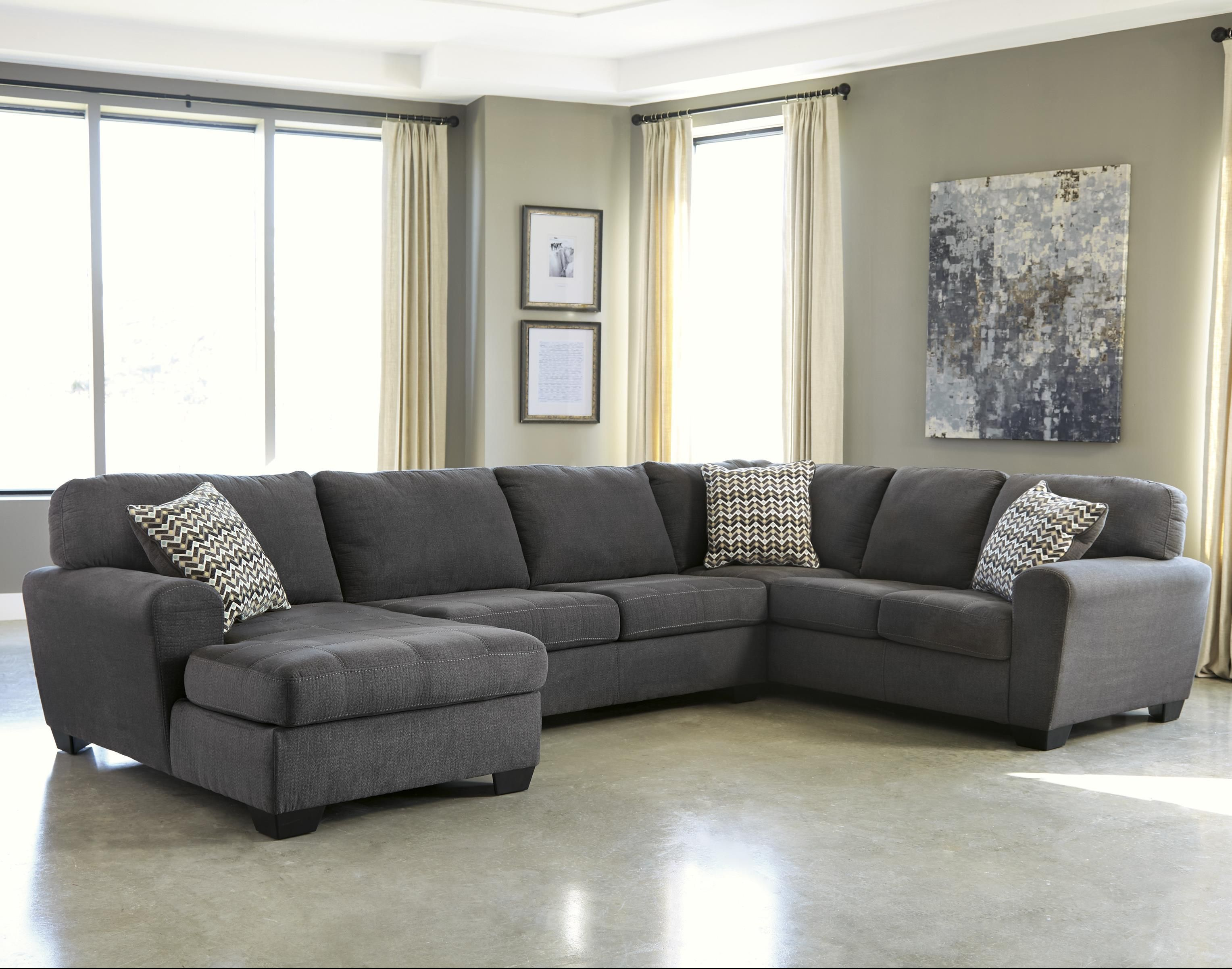 Sorenton Contemporary 3 Piece Sectional With Left Chaise By Ashley Living Room Sectional Living Room Furniture Furniture #taft #furniture #living #room #sets