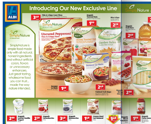 Reader Tip Aldi Is Testing A New Line Of Organic Products