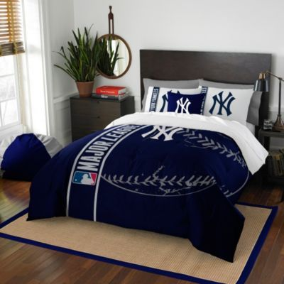 Mlb New York Yankees Embroidered, New York Yankees Queen Bedding