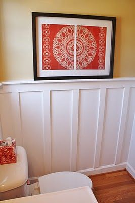 Add Board And Batten To Beautify A Bathroom Sand And Sisal Diy Stairs Board And Batten Diy Remodel