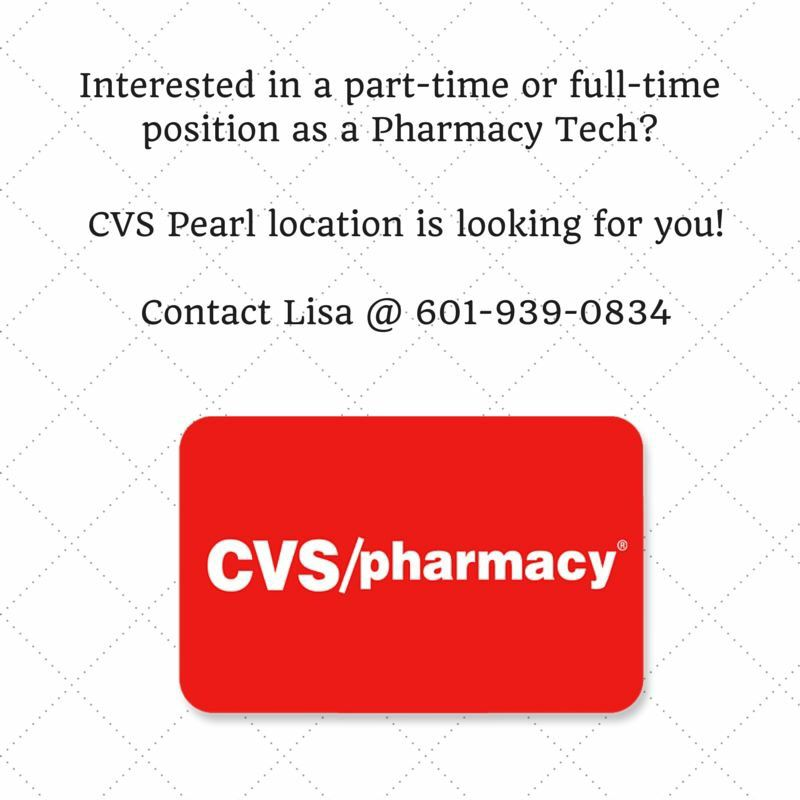 Check out this CVS opening Job opening, Pharmacy tech