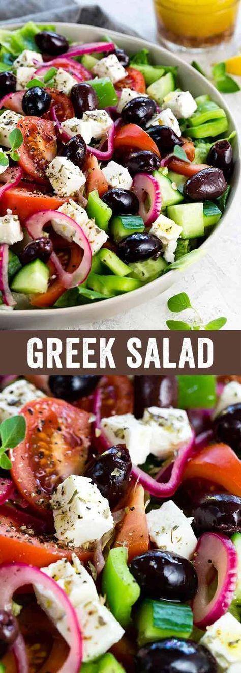 Griechischer Salat   - Essen - #Essen #griechischer #Salat #bellpeppers