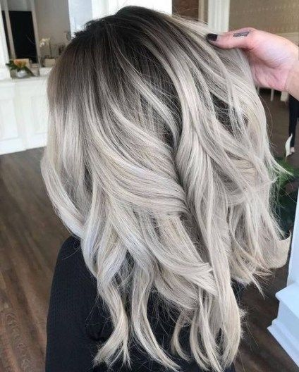Hair balayage grey ash blonde silver ombre 32 ideas for 2019 #ashblondebalayage