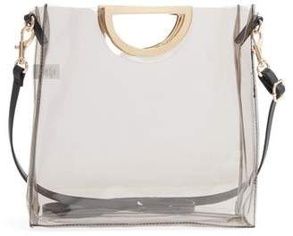 69be5c13f Shop for BP Mini Translucent Metal Handle Bag at ShopStyle.com ...