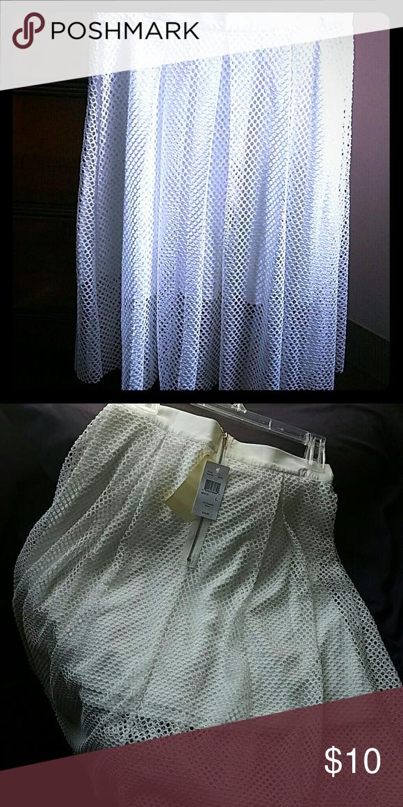 Fishnet Skirt An elegant white fishnet Skirt to add a little bit a flare to your amazing wardrobe. Skirts Circle & Skater